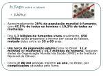 os fatos sobre o tabaco fato 2