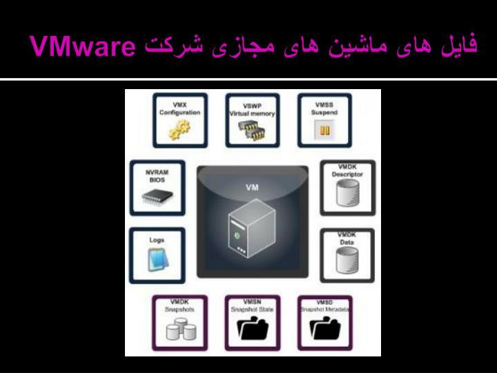 فایل های ماشین های مجازی شرکت