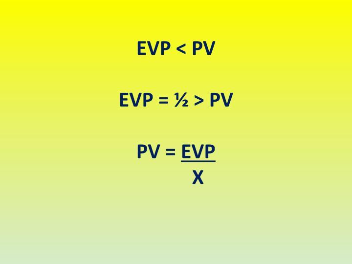 EVP < PV