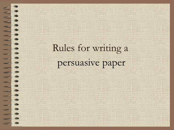 Rules for writing a