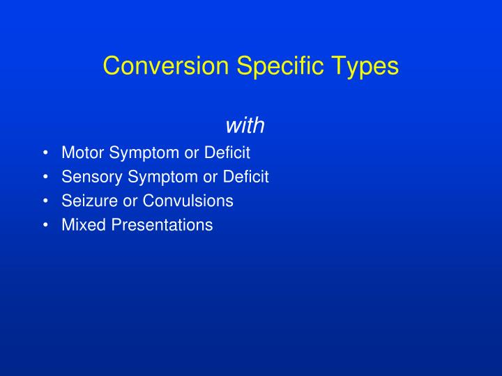 Conversion Specific Types
