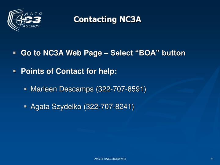 Contacting NC3A