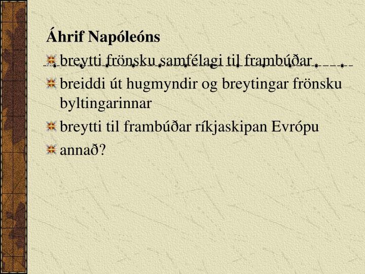 Áhrif Napóleóns