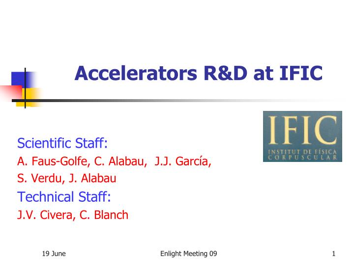 Accelerators r d at ific