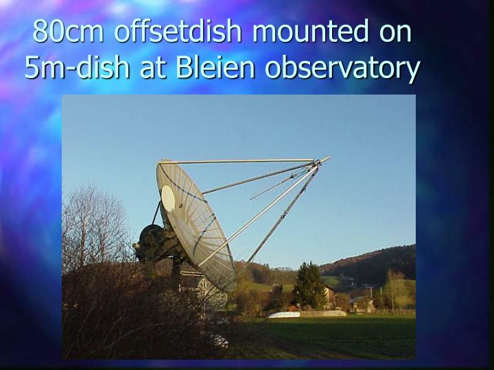 80cm offsetdish mounted on 5m-dish at Bleien observatory