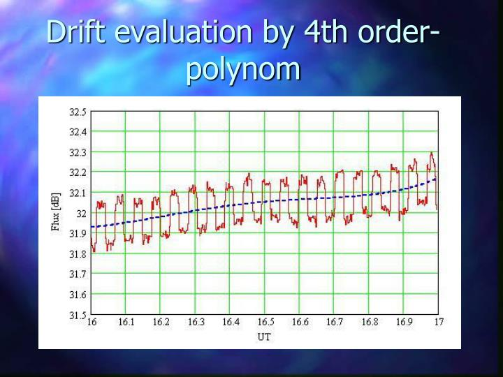 Drift evaluation by 4th order- polynom