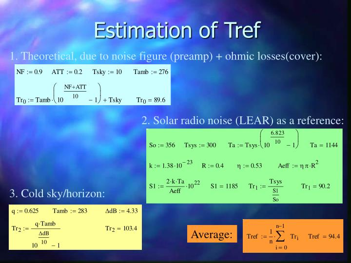 Estimation of Tref