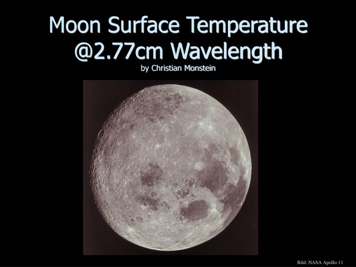 Moon surface temperature @2 77cm wavelength by christian monstein