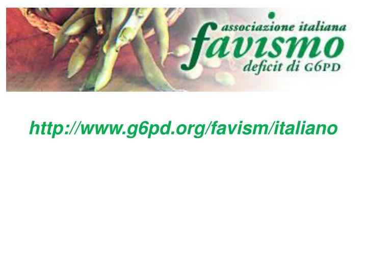 http://www.g6pd.org/favism/italiano