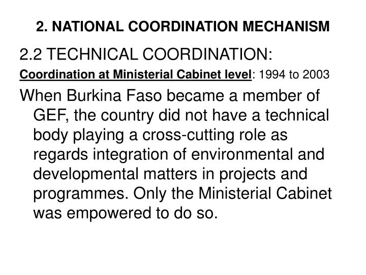 2. NATIONAL COORDINATION MECHANISM