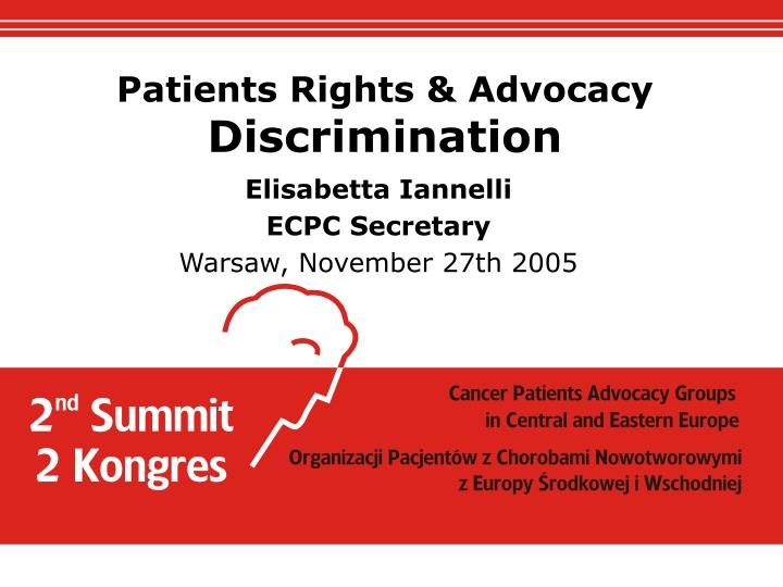 Elisabetta iannelli ecpc secretary warsaw november 27th 2005
