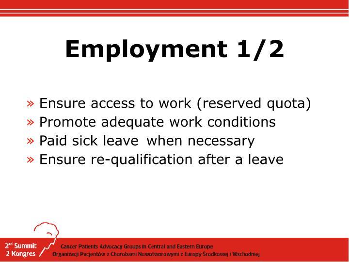 Employment 1/2