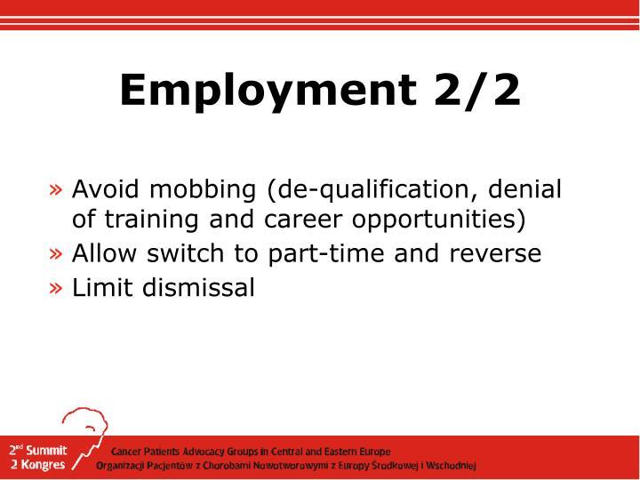 Employment 2/2