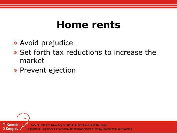 Home rents