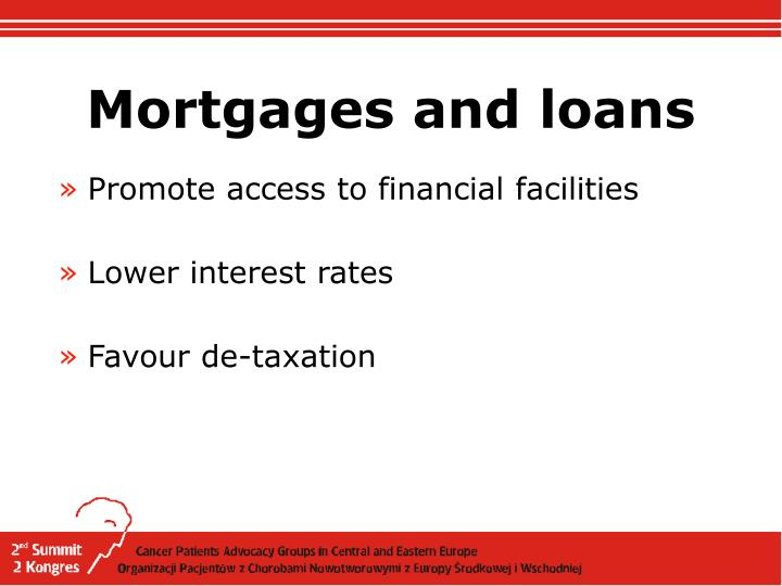 Mortgages and loans