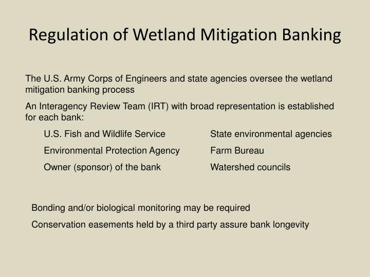 Regulation of Wetland Mitigation Banking