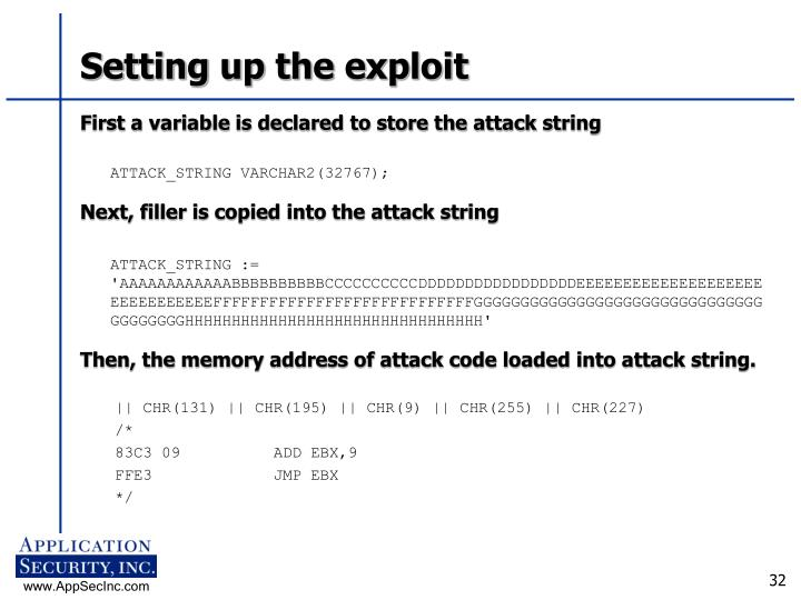 Setting up the exploit
