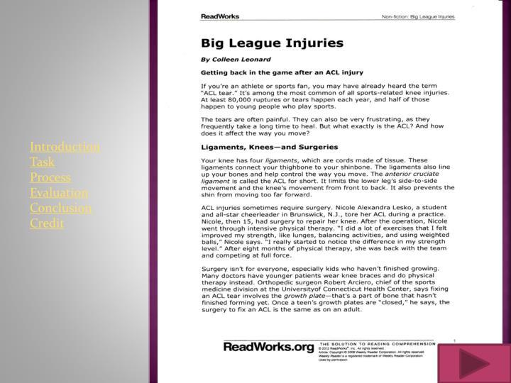 Big League Injuries