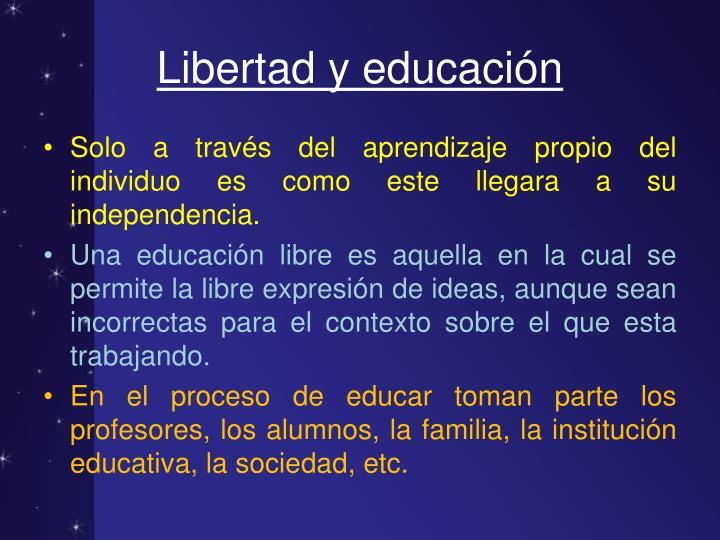 Libertad y educación