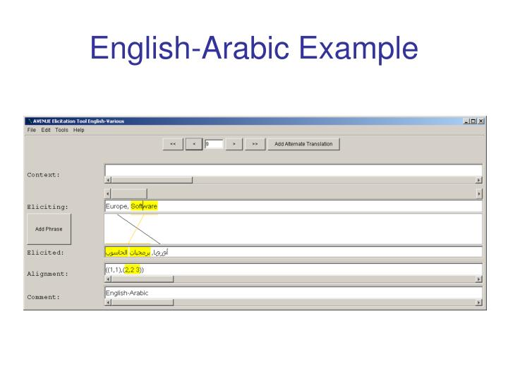 English-Arabic Example