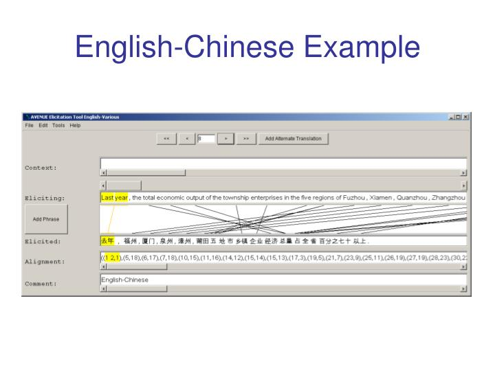 English-Chinese Example