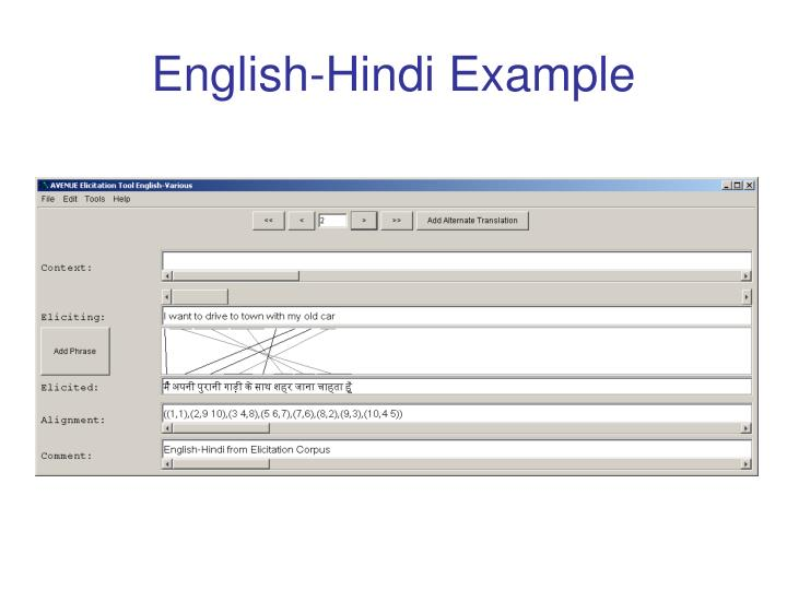 English-Hindi Example