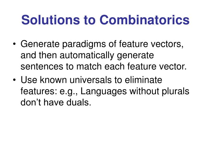 Solutions to Combinatorics