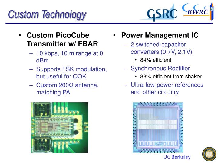 Custom PicoCube Transmitter w/ FBAR