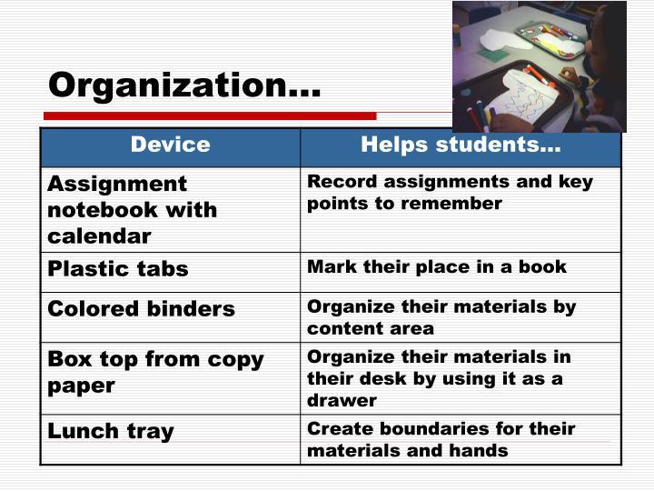 Organization…