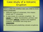 case study of a volcanic eruption