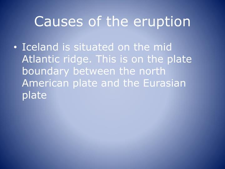 Causes of the eruption