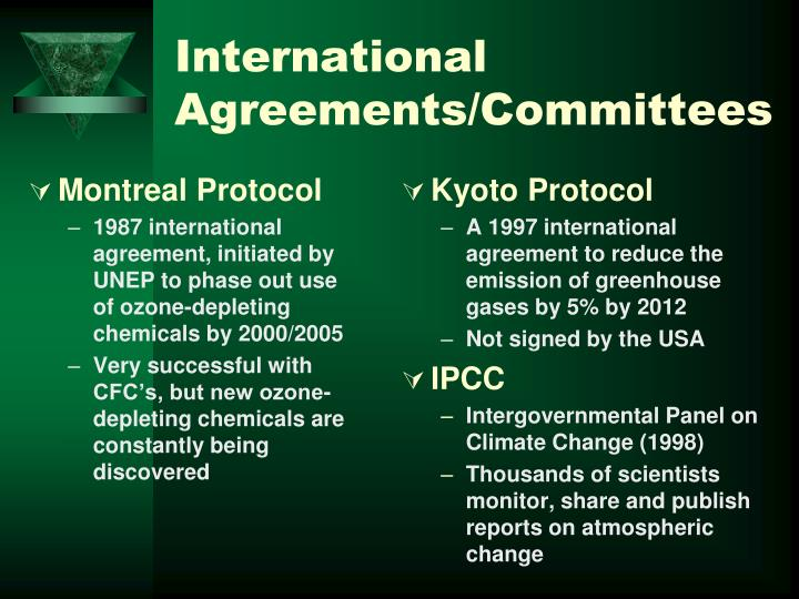 International Agreements/Committees