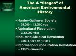 the 4 stages of american environmental history