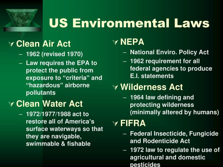 US Environmental Laws