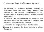 concept of security insecurity contd