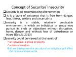 concept of security insecurity