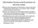 information s ervice and promotion of security contd1