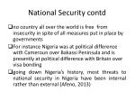 national security contd