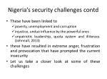 nigeria s security challenges contd