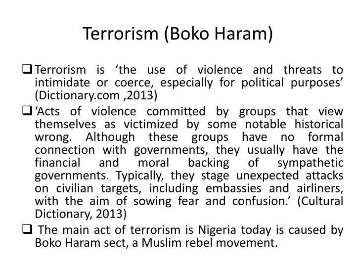 Terrorism (Boko Haram)
