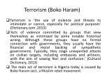 terrorism boko haram