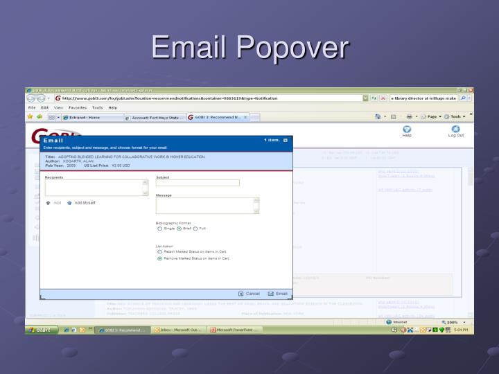 Email Popover