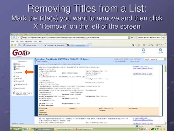 Removing Titles from a List: