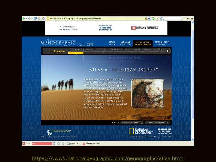 The Genographic Project. 42K likes. The Genographic Project is a multiyear research initiative of the National Geographic Society. Genographic was.