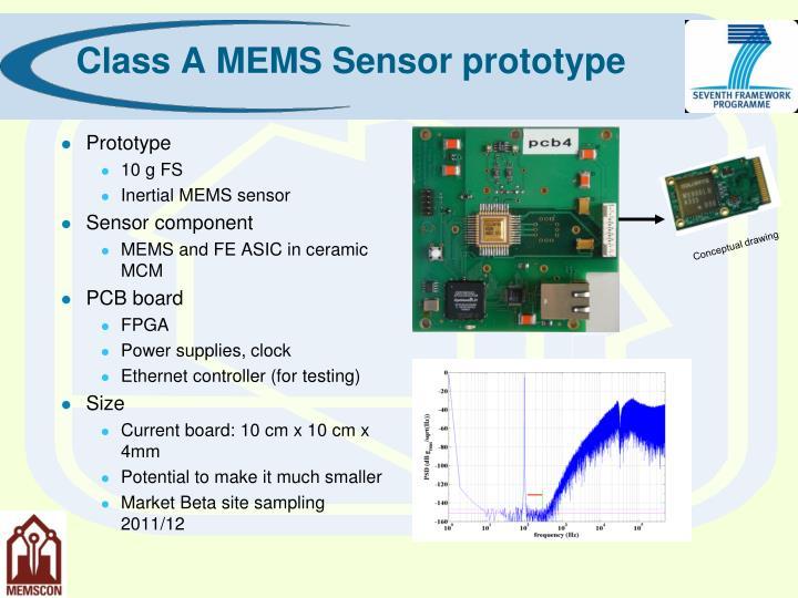 Class A MEMS Sensor prototype