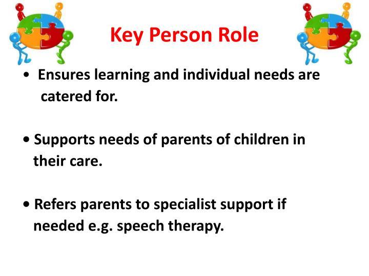 Key Person Role
