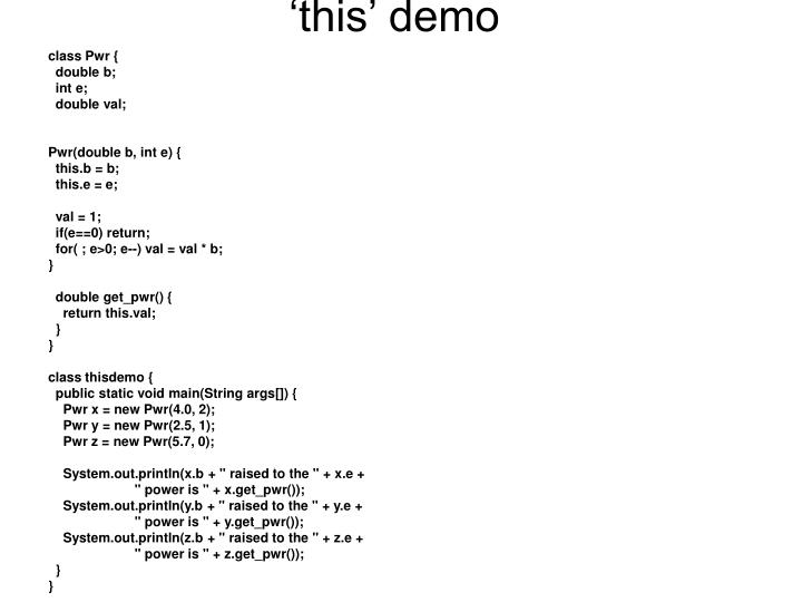 'this' demo