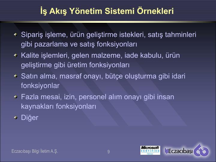 İş Akış Yönetim Sistemi Örnekleri