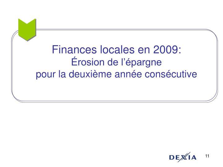 Finances locales en 2009:
