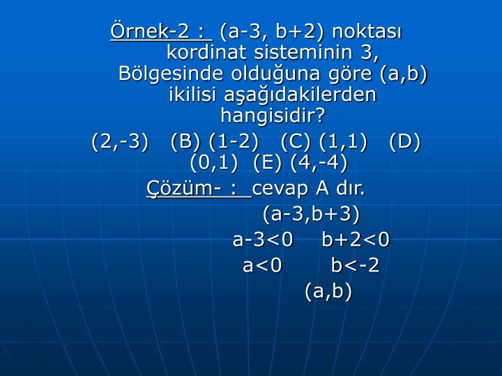 Örnek-2 :